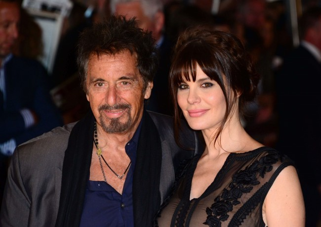 Mandatory Credit: Photo by Nils Jorgensen/REX (4107824ad) Al Pacino, Lucila Sola 'Salome & Wild Salome' film premiere, BFI Southbank, London, Britain - 21 Sep 2014 /Rex_Salome_Wild_Salome_4107824AD//1409221457
