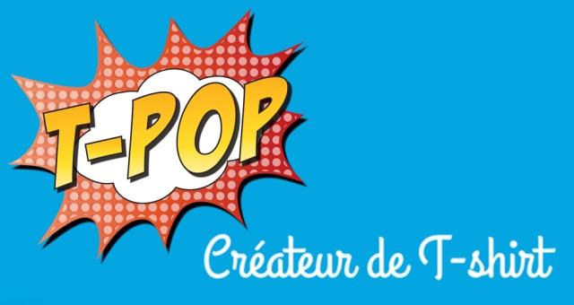 T-shirt personnalisé et print on demand sur T-POP.